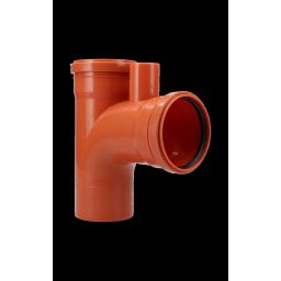 RAMAL TEE 87º30´ CON 1 VENTILACIÓN M/H 110mm